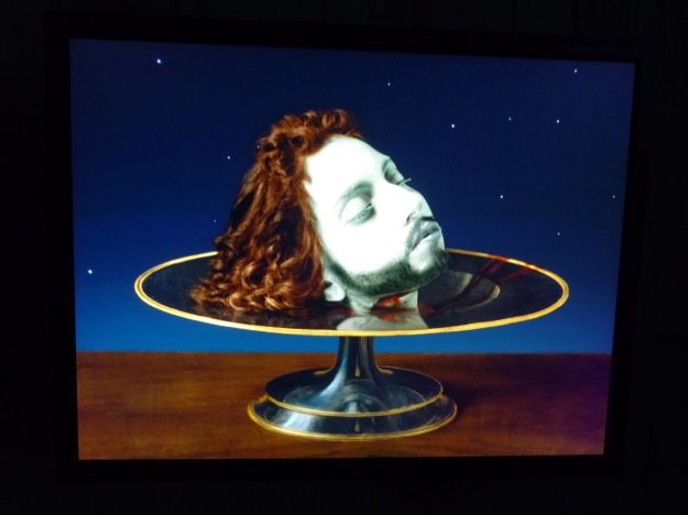 Lady Gaga as the head of John the Baptist.