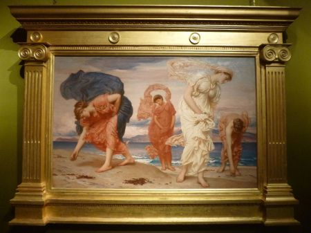 Greek Girls picking up Pebbles by the Sea by Frederic, Lord Leighton
