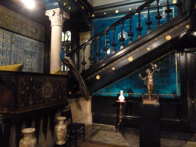 Fabulous Iznik and William de Morgan tiles and ceramics catch the light at Leighton House.