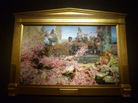 A cruel Roman emperor drowns his dinner guests in petals: The Roses of Heliogabalus by Lawrence Alma-Tadema.